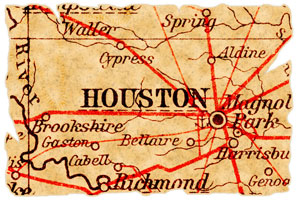 old map of Houston, Texas